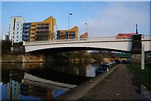 TQ3882 : Limehouse Cut at Twelvetrees Crescent Bridge by Ian S