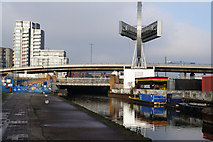 TQ3783 : The River Lea at the A118, High Street by Ian S