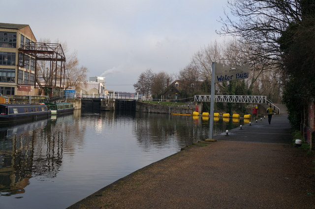 Water Bus Stop on the River Lea