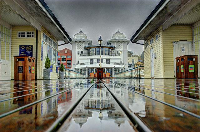 Penarth Pier Pavilion in the Rain