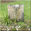 SK6723 : 'Belvoir Angel' gravestone, Old Dalby by Alan Murray-Rust