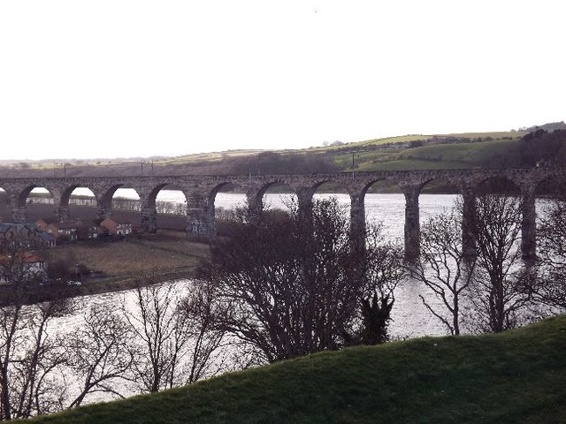 The Royal Border Bridge crossing the River Tweed
