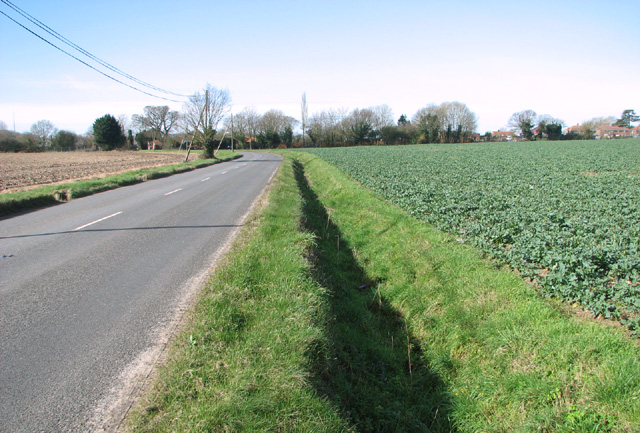 Ditch beside Fundenhall Road