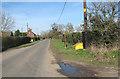 TM1094 : Grit bin beside Wymondham Road by Evelyn Simak