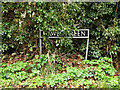 TM2399 : Hawes Green sign by Adrian Cable