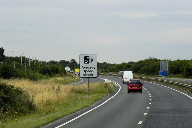 Westbound A14, Cambridge Bypass