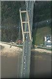 TA0225 : Humber Bridge and Hessle Foreshore: aerial 2014 by Chris