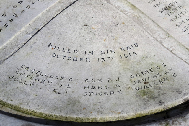 Victims of a Zeppelin Raid, Hertford War Memorial
