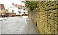 J4273 : Wall and road, Dundonald by Albert Bridge