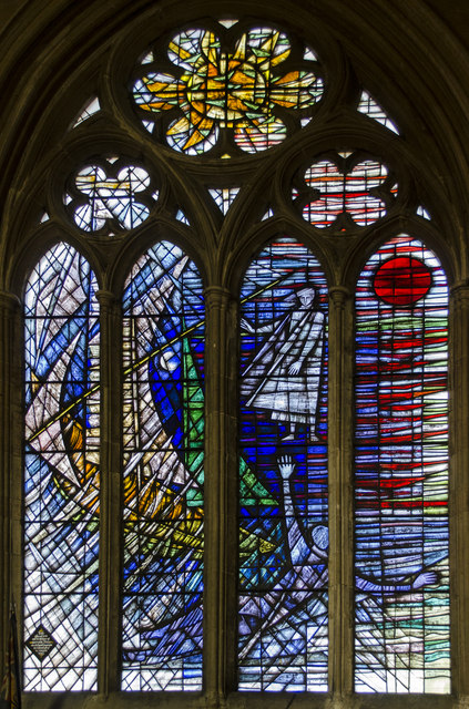 Hall window, St Wulfram's church, Grantham