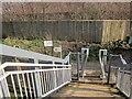 ST5982 : East end of motorway footbridge, Patchway by Derek Harper