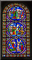 TL5480 : South Transept, Stained glass window, Ely Cathedral by Julian P Guffogg