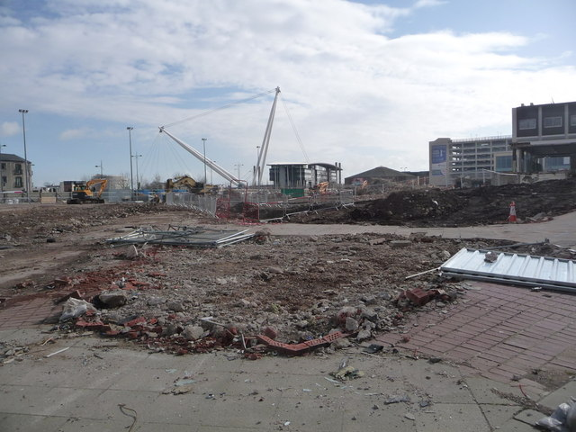 Newport: the bus station has been demolished by Chris Downer