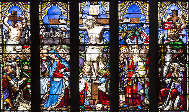 Stained glass window, Newcastle Cathedral
