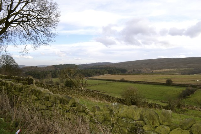View across the moors to Strines, from Stocks Lane, Upper Midhope, near Stocksbridge