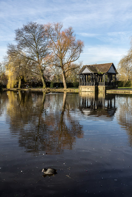 Bandstand by Lake, Broomfield Park, Palmers Green, London N13