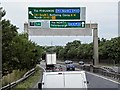 TL2372 : Westbound A14 Approaching Junction 23 (Spittals) by David Dixon
