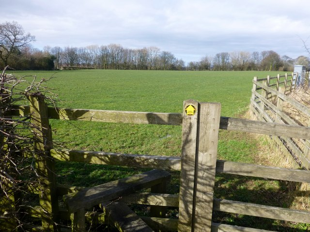 Stile Into Field Beside The M6