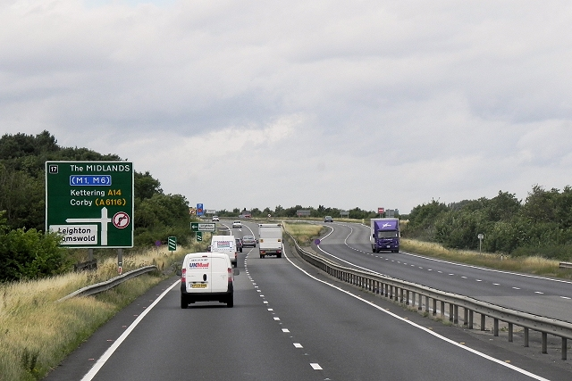 Westbound A14 near Leighton Bromswold