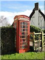 TL2664 : Telephone Box next to the Old Reading Room, Papworth St. Agnes by Adrian S Pye
