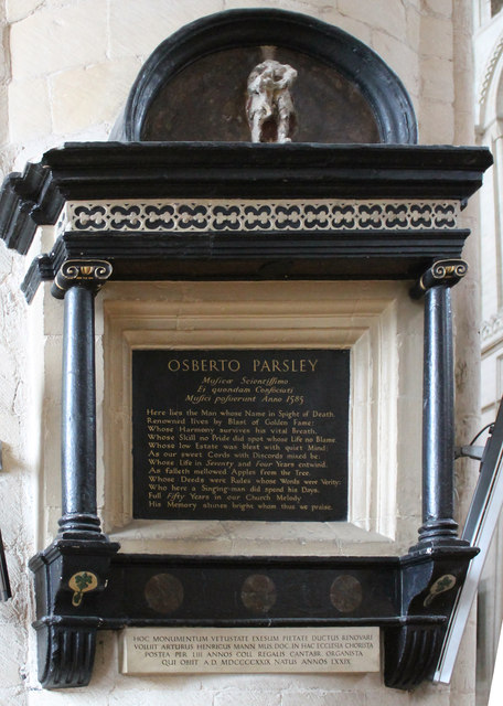 Memorial to Osbert Parsley, Norwich Cathedral