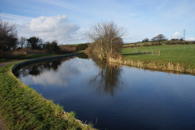 The Lancaster Canal north of Lancaster