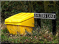 TM2697 : Baxter's Lane sign by Geographer