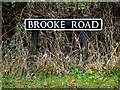 TM2697 : Brooke Road sign by Adrian Cable