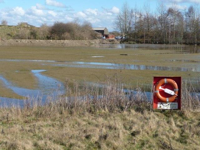 'Caution, deep water' at Flasks Lake