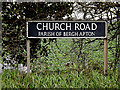 TG2900 : Church Road sign by Adrian Cable