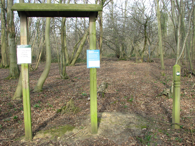 Lower Wood Nature Reserve - information board