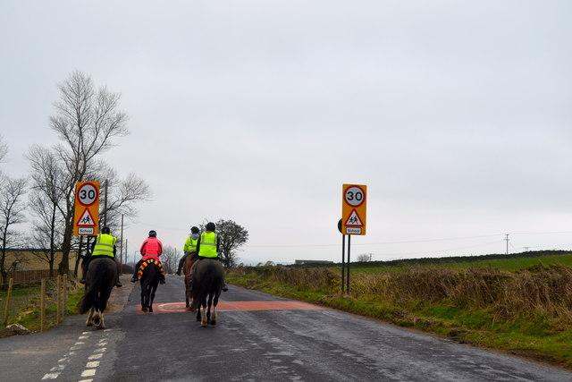 Riders on Kirk Edge Road, Worrall, near Oughtibridge - 4
