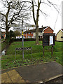 TG3000 : Roadsign, Church Road sign & Village Notice Board by Adrian Cable