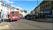 SP0202 : View 112.5° along Market Place, Cirencester by Brian Robert Marshall