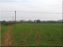 SK8707 : Over the fields to Egleton by John Sutton