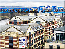 NZ2563 : Rooftops and bridge, Newcastle upon Tyne by William Starkey