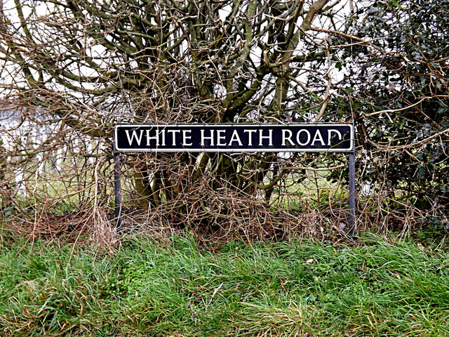 White Heath Road sign