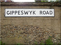 TM1543 : Gippeswyk Road sign by Hamish Griffin