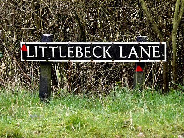 Littlebeck Lane sign