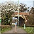 TL8765 : Orttewell Road rail bridge by John Myers