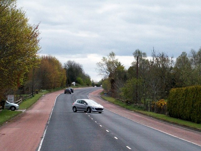 View south along the A24 north of Ballynahinch