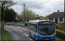 J3655 : Belfast-bound Service 18 on the Old Belfast Road by Eric Jones