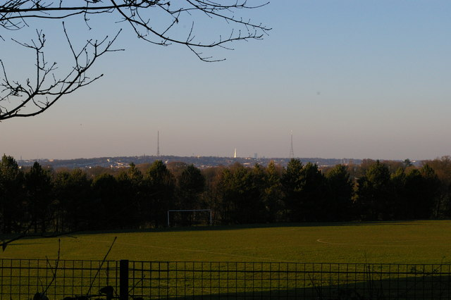 View north from Coombe Woods, Croydon