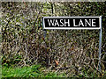TM2695 : Wash Lane sign by Adrian Cable