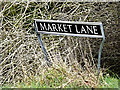 TM2596 : Market Lane sign by Adrian Cable