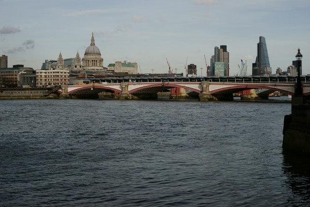 View Towards Blackfriars Bridge