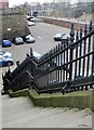 SD8010 : Steps and Railings, Bank Street, Bury by Tricia Neal