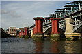 TQ3180 : Blackfriars Railway Bridge by Peter Trimming