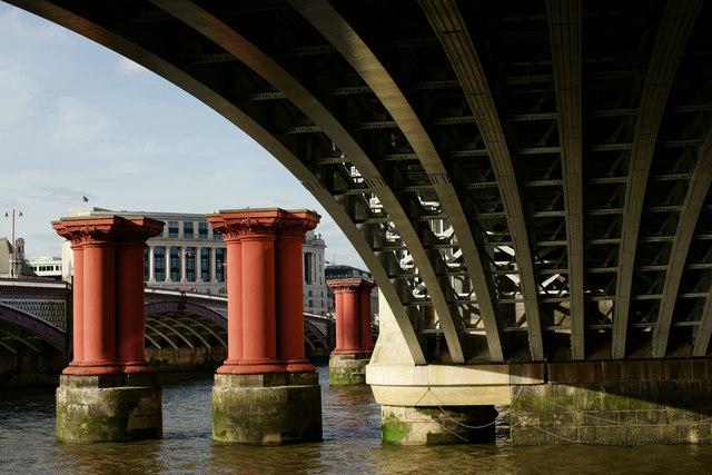 Under Blackfriars Railway Bridge