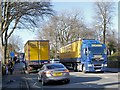SD8009 : Dachser HGVs on Manchester Road by David Dixon